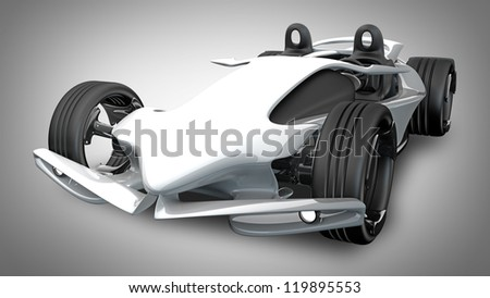 Concept sport car (roadster) (No trademark. This car is my own design) High resolution 3d render - stock photo