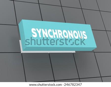 Concept SYNCHRONOUS - stock photo