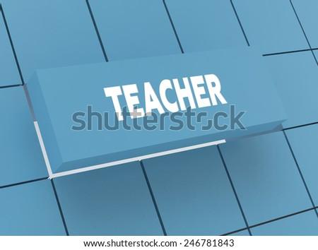 Concept TEACHER - stock photo