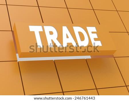 Concept TRADE - stock photo