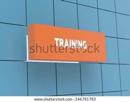 Concept TRAINING - stock photo