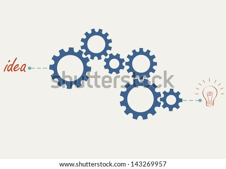 Concept vector with abstract gear wheels. Variation -1 - stock photo