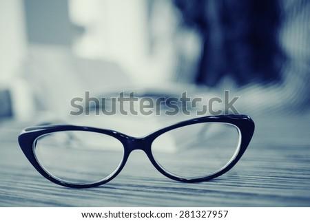 concept vision glasses - stock photo