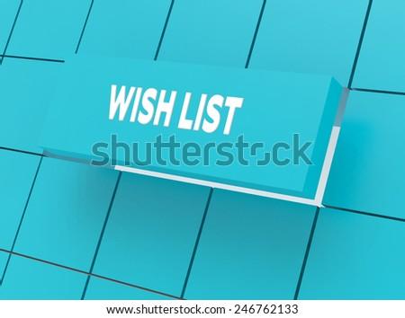Concept WISH LIST - stock photo