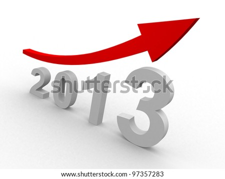concept with the graph-chart - 3d render illustration - stock photo