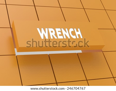 Concept WRENCH - stock photo