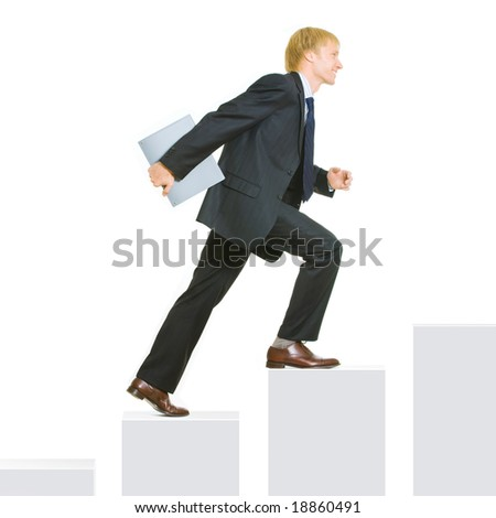Conceptal image of  business progress or growth - stock photo