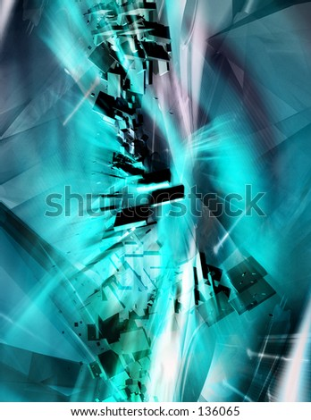 Conceptual Abstract Illustration 14 - stock photo