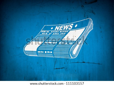 Conceptual ART of a business newspaper - stock photo