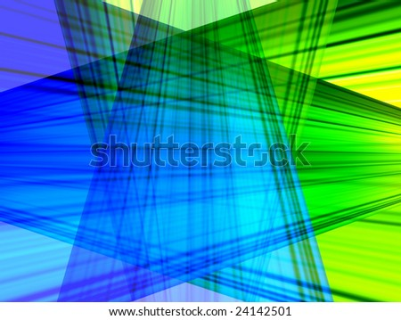 conceptual blue and green ligth with bright effects. Abstract illustration - stock photo