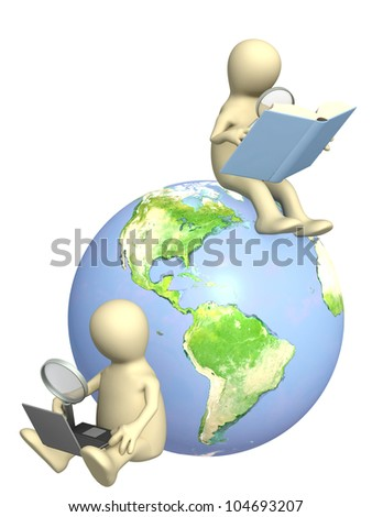 Conceptual 3d image - information search - stock photo
