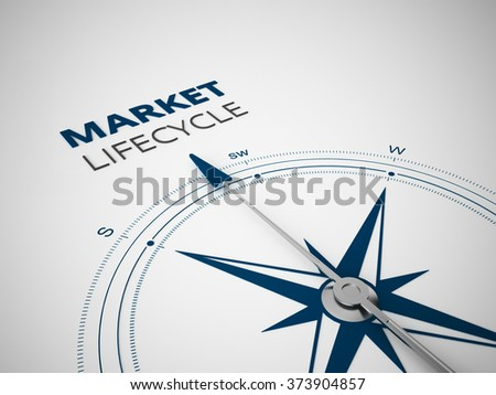 Conceptual 3D render image with a frameless Compass focus on a single word - stock photo