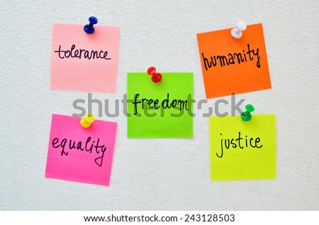 Conceptual expression of the desire for a more humane world - stock photo