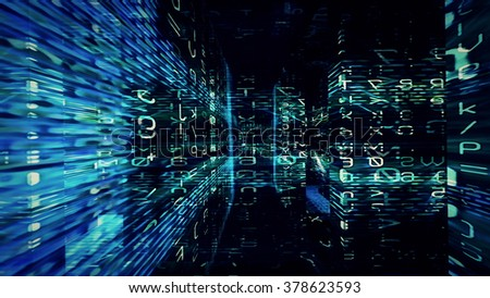 Conceptual futuristic technology digital light abstraction. High resolution illustration 10780. - stock photo