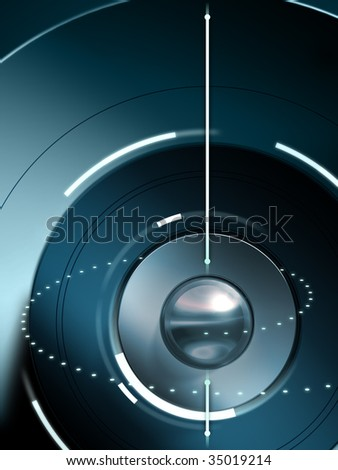 Conceptual high technology background. Digital illustration - stock photo