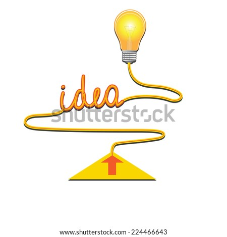 Conceptual icon, light bulb idea abstract background for your successful business design - stock photo