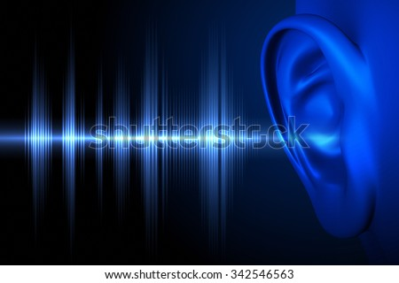 Conceptual image about human hearing  - stock photo