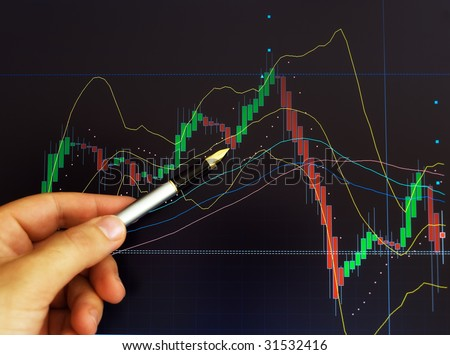 Conceptual image about stock exchange market and graph price analysis . - stock photo