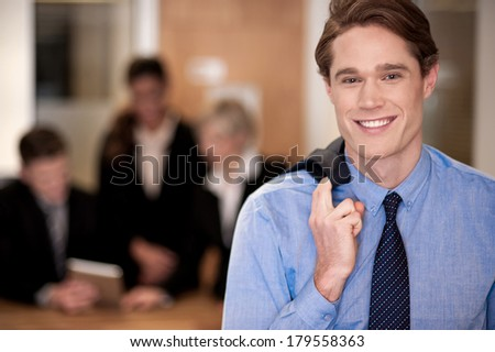 Conceptual image of a business team, indoors - stock photo