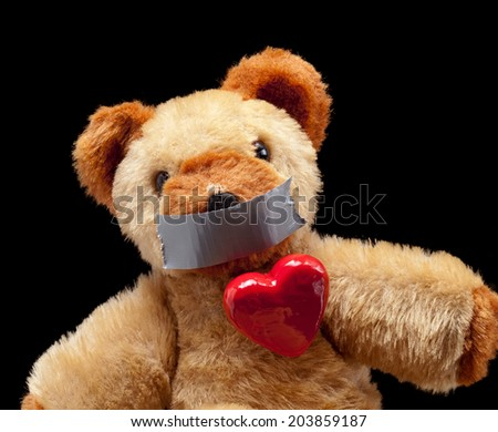 Conceptual image of some blackmailed passioned lover. - stock photo