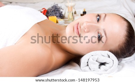 Conceptual image of wellness and beauty treatment.  - stock photo