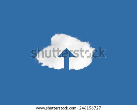 Conceptual image representing modern cloud computing  - stock photo