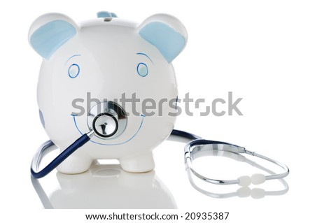 Conceptual image representing the declining health of savings or investments in a troubled economy - stock photo