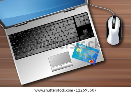 Conceptual image representing the online business - stock photo