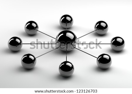 conceptual image that might represent teamwork - stock photo