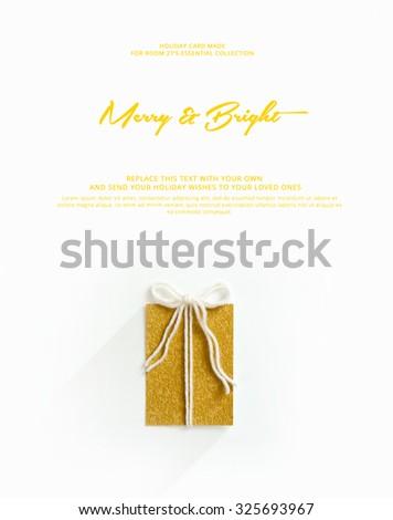 conceptual minimal , christmas card  - stock photo