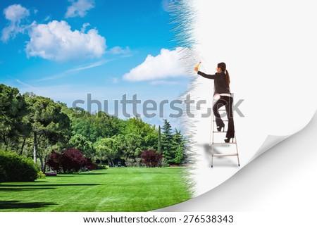 Conceptual photo of green environment - stock photo