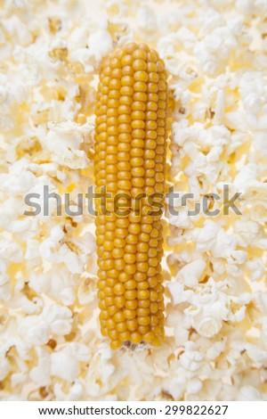 Conceptual Popcorn - stock photo