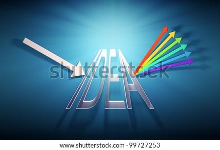 Conceptual prism illustration - creativity concept - stock photo