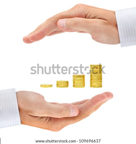 Concern about investment. Conceptual business image - stock photo