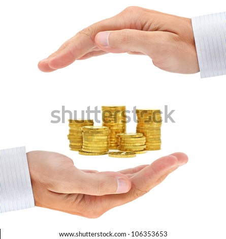 Concern about money. Conceptual business image - stock photo