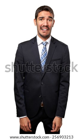 Concerned businessman - stock photo
