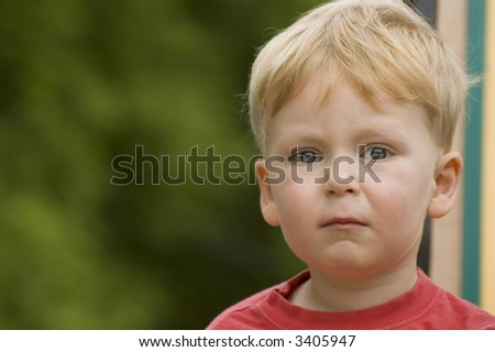 Concerned Child - stock photo