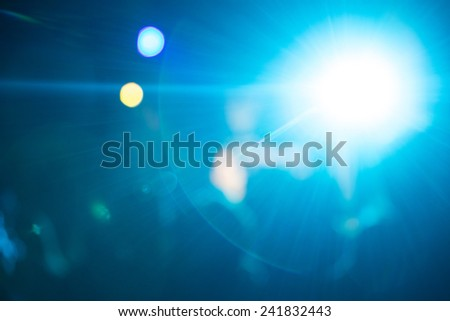 concert and party light  - stock photo