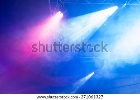 Concert Light Show - stock photo