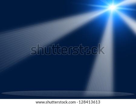 concert lighting against a dark background ilustration - stock photo