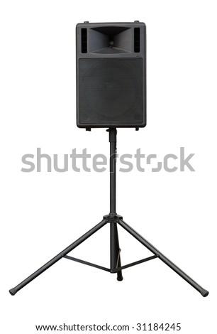 concert loudspeaker isolated - stock photo