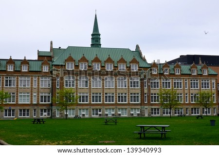 Concordia University Loyola campus Montreal Quebec Canada - stock photo
