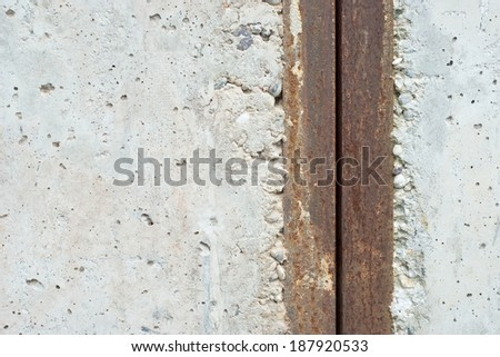 Concrete and Metal as Background Design Element - stock photo