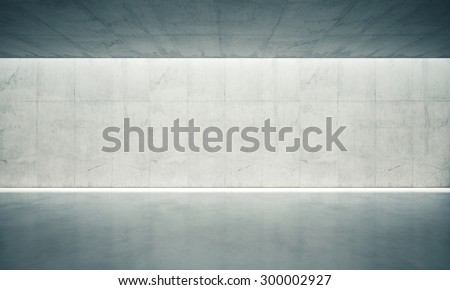 Concrete blank space interior wall. 3d render - stock photo
