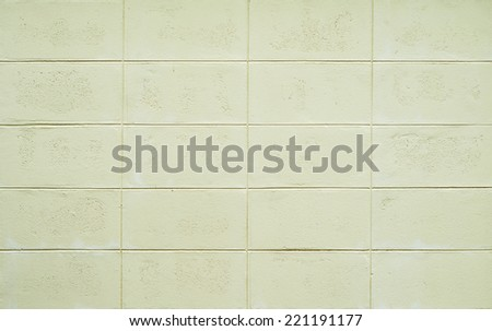 Concrete block wall - stock photo