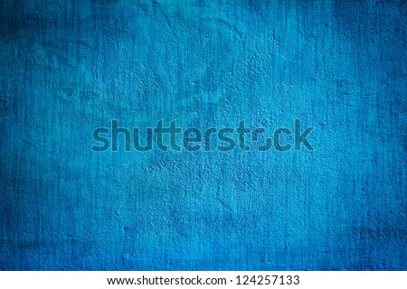 concrete blue darken wall texture grunge background - stock photo