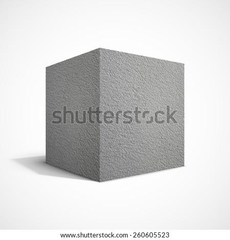 Concrete cube. - stock photo