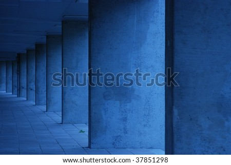 Concrete hallway in Rotterdam - stock photo