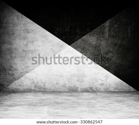 concrete interior with X pattern - stock photo