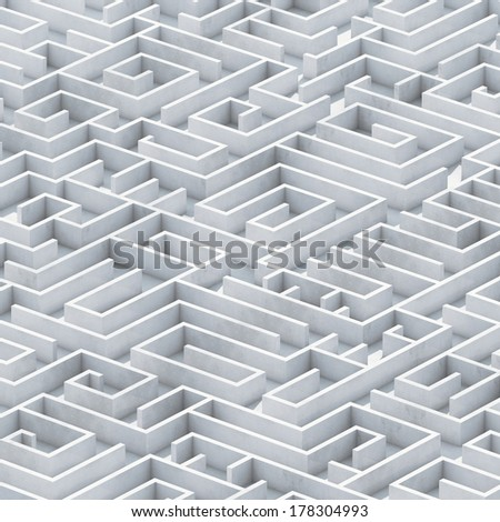 concrete maze - stock photo